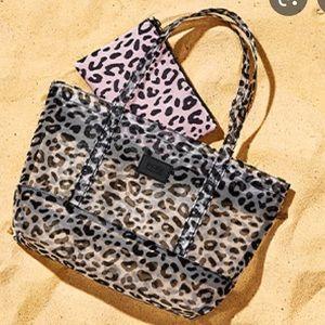 PINK mini mesh bag and clutch